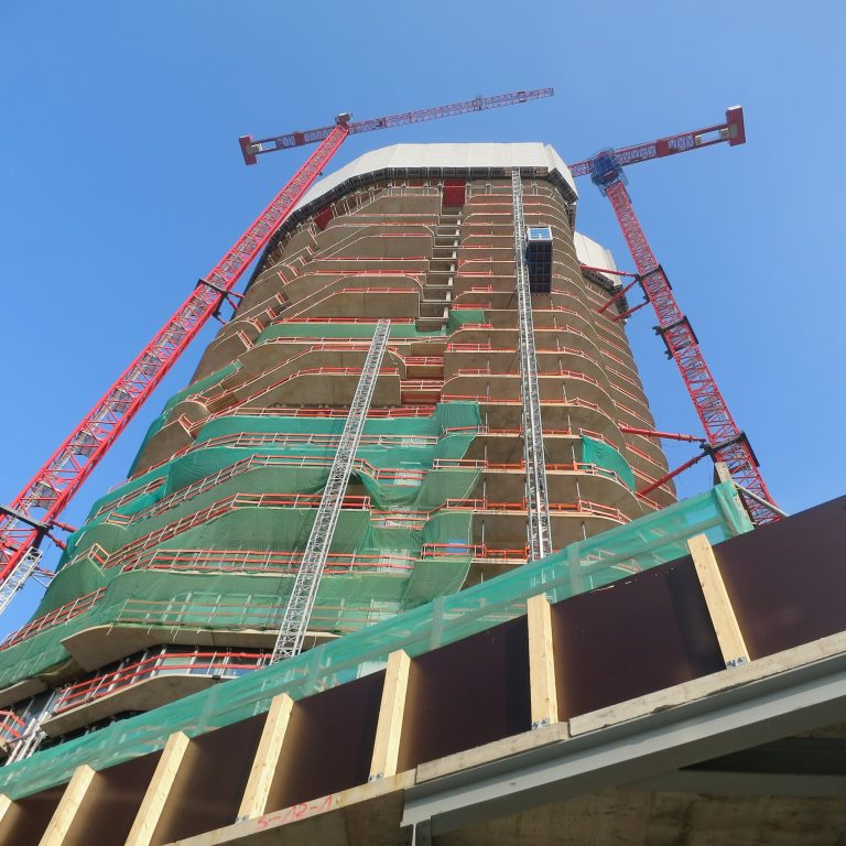 Picture of the Grand Tower and two 420 e.tronic the construction work thereof you can watch on webcam