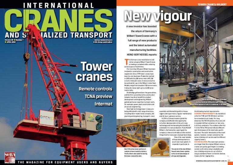 Foto vom Titel der Crane und der ersten Seite des Artikels über WILBERT