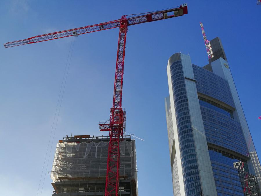 Foto von unserem WT 420 e.tronic beim Rückbau der Deutsche Bank IBCF in Frankfurt