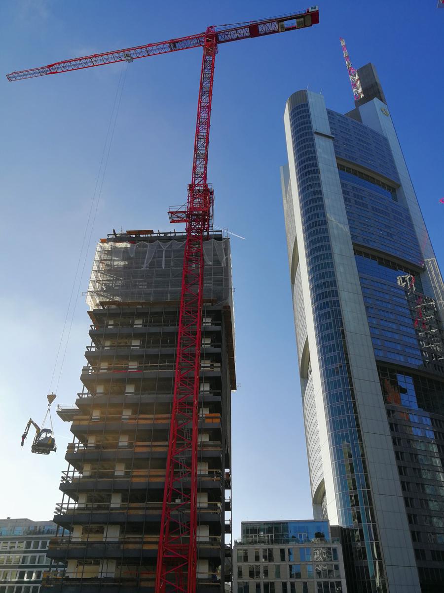 Deconstruction Of Deutsche Bank Ibcf Frankfurt Wilbert Tower Cranes