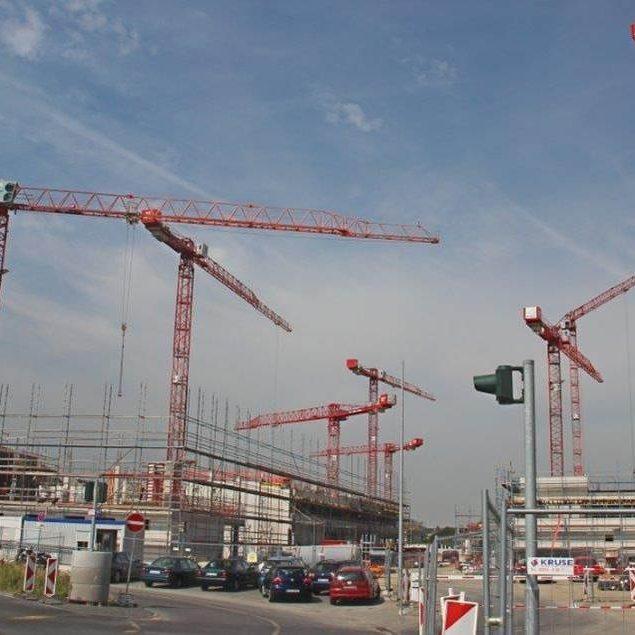 WILBERT Laufkatzkrane auf der Baustelle des HRW-Campus