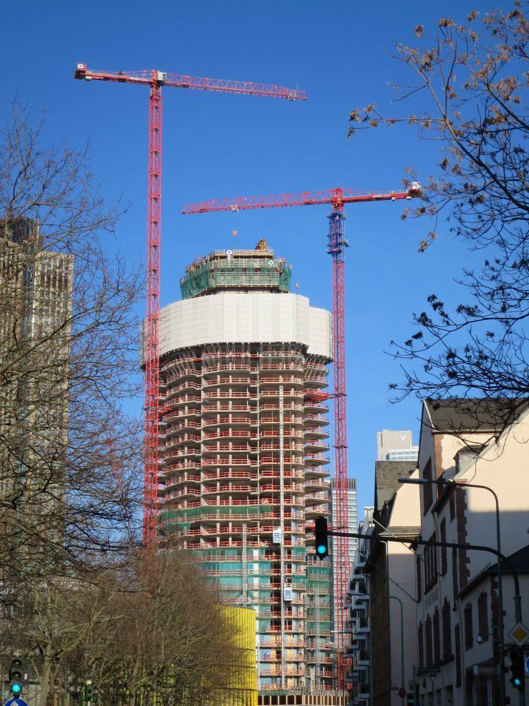 Foto vom Baufortschritt am Grand Tower mit unseren WT 420 e.tronic