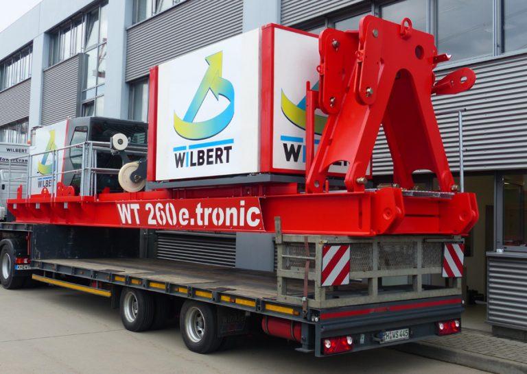 Bild einer WT 260 e.tronic Montageeinheit bereit für den Transport