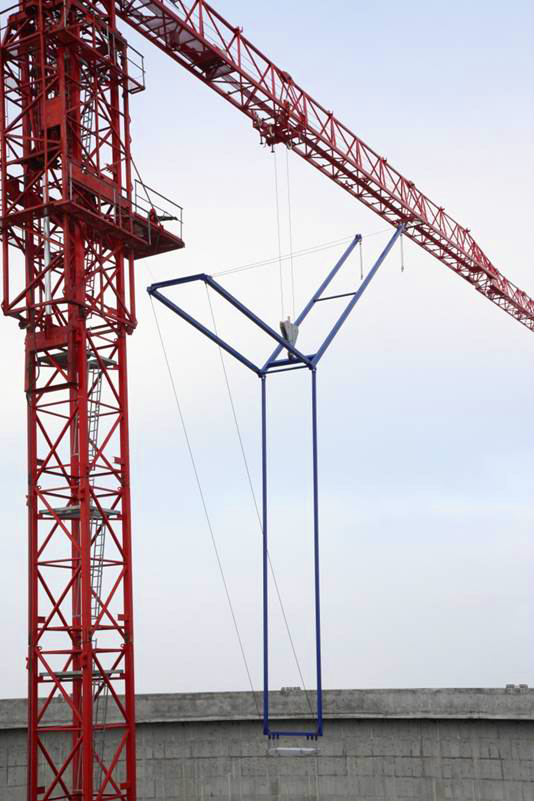 Selbstabbauender Ausleger am WT 300 e.tronic in der Kühlturm-Ausführung