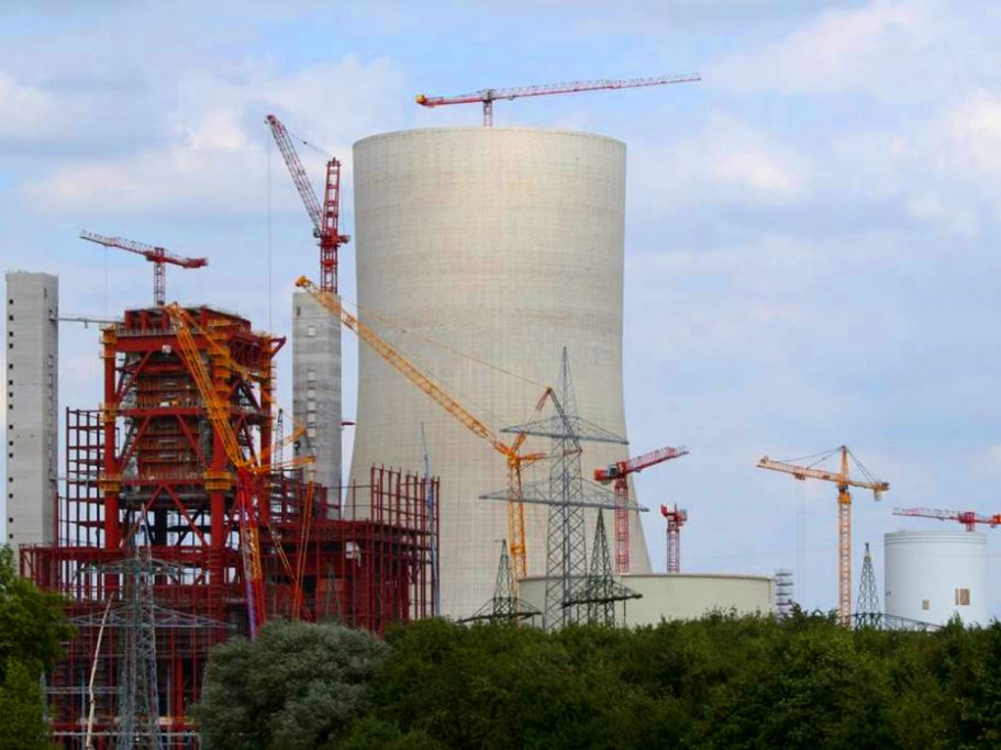 Großbaustelle am Kraftwerk Datteln mit unserem WT 300 e.tronic Spezialausführung K