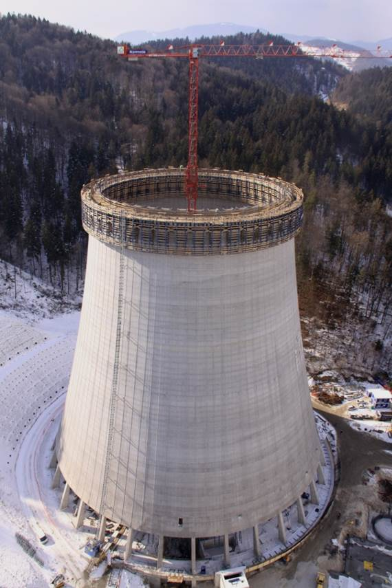 Foto vom Kühlturm in Sostanj in Slowienien mit einem WT 300 e.tronic in Spezialausführung K