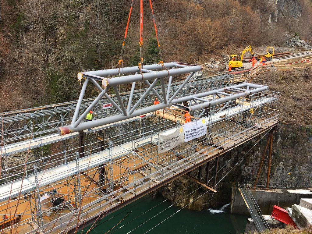 Foto vom Neubau der Brücke