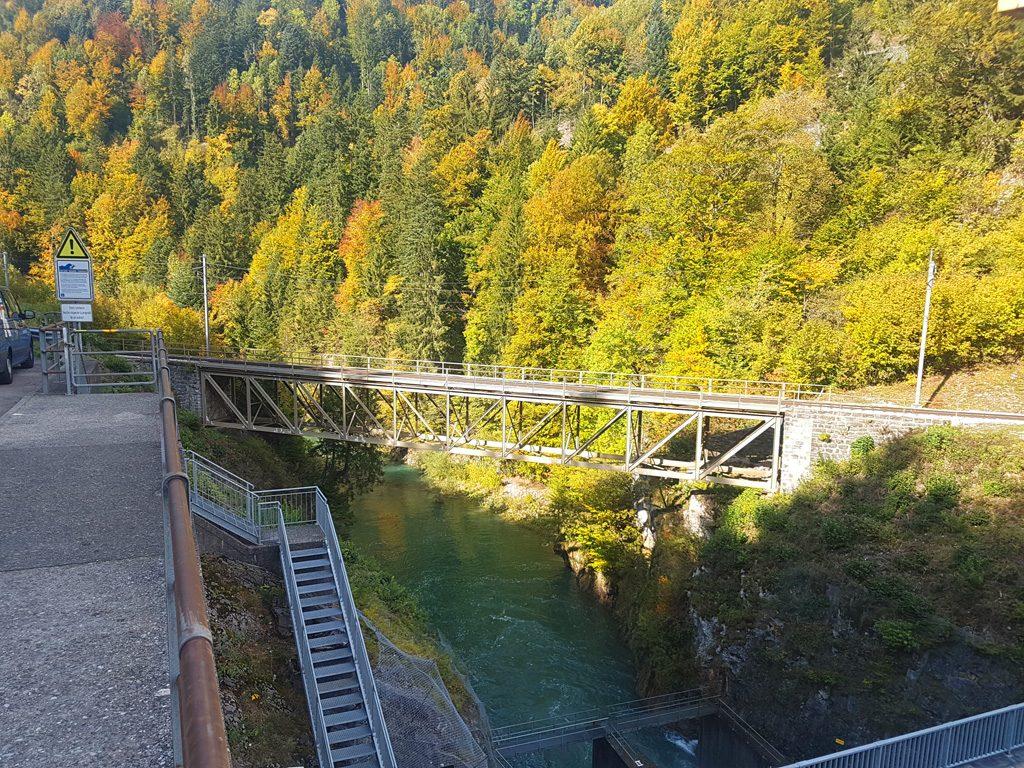 Foto von der alten Brückenkonstruktion der Ponte du Lanciau